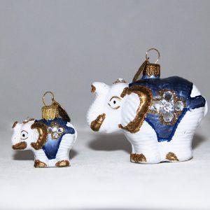 Begge elefanter hvid